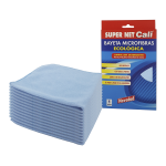 Bayeta microfibras azul 40x40 cm 12 Unidades Super Net Cali