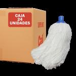 Fregona de microfibras económica Blanca 24 Unidades Super Net Cali