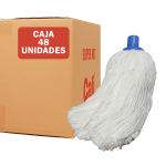Fregona de microfibras económica Blanca 48 Unidades Super Net Cali