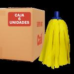 Fregona de tiras Suave Amarilla 6 Unidades Super Net Cali