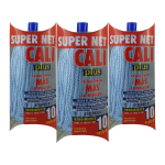 Fregona microfibra Azul 3 Unidades Super Net Cali