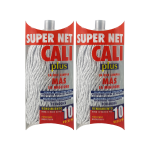 Fregona microfibra bicolor gris 2 Unidades Super Net Cali