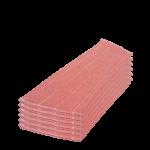 6 Uidades recambio mopa microfibra rosa 30 cm Super Net Cali