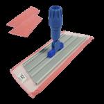 Mopa micrifibra rosa 30 cm con 2 recambios Super Net Cali