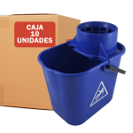 Cubo de fregona 14 litros azul pack 10