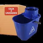 Cubo de fregona 14 litros azul pack 2