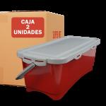 contenedor hermetico 15L rojo 2 unidades