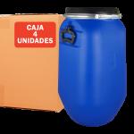 Bidón azul con asas de 30 litros, Pack de 4 Unidades Super Net Cali
