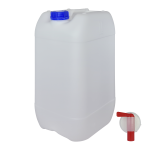 Garrafa de plástico con grifo 25 litros Super Net Cali