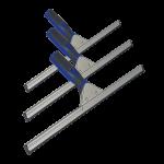 Limpiacristales ergonómico 45 cm Super Net Cali 3 uds