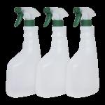 3 Unidades botella de 750 ml con pulverizador verde Super Net Cali