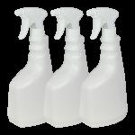 Botella de 750 ml con pulverizador Pack 3 Unidades Super Net Cali
