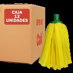 Fregona de tiras amarilla 12 Unidades Super Net Cali