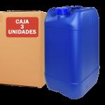 Garrafa de plástico 25 litros color azul pack 3 unidades, Super Net Cali